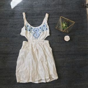 Hollister Dress Size One White Beaded